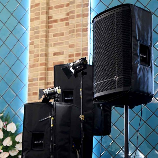 Demo of Ava P series speakers in the Eid Ghadir celebration program of Hiat al-Reza. In this ceremony, a total of 10 Ava P series speakers were used as side and main monitors.